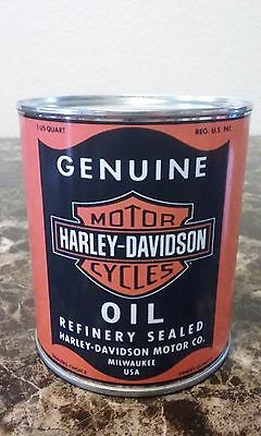 Vintage Harley Davidson Oil Can 1 qt. ( Stashcan )   - Reproduction vintage can