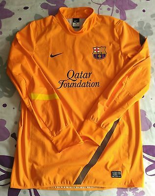 Storm Fit Orange Fc Barcelona Player Issue Match Worn Water Repellent Nike