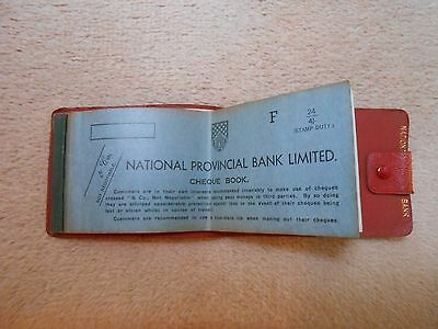 1960s National Provincial Bank cheque book and wallet