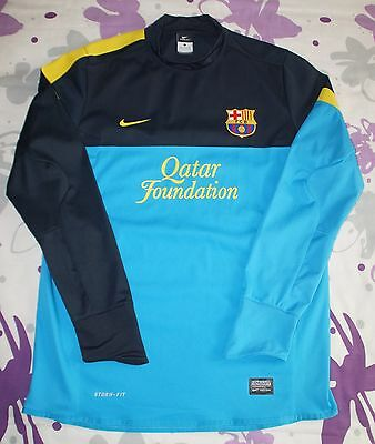 Storm Fit Blue Fc Barcelona Version Player Issue Match Worn Water Repellent Nike