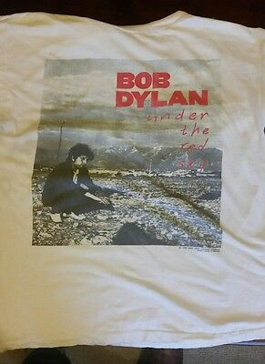 Vintage Bob Dylan Under the red sky tour t shirt