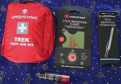 Lifesystems Trek  First Aid Kit & Tic Removers New Survival Kit