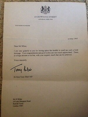 A Signed Letter By The Prime Minister Tony Blair