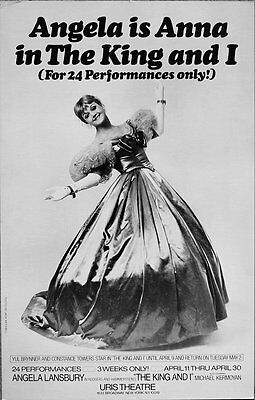 TRITON offers original 1978 Broadway poster THE KING AND I Angela Lansbury
