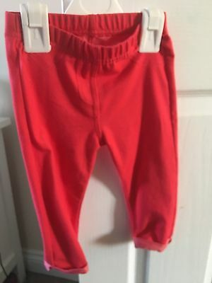 Baby Girls Coral Jeggings 9 To 12 Months