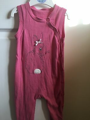 Mothercare Baby Girls Pink Dungarees 9 To 1