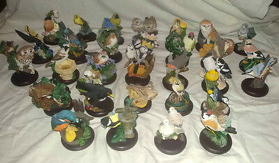 """Lovely Set 31 """"the Country Bird Collection""""-By Andy Pearce Handpainted Figurines"""