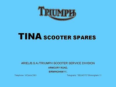 Triumph Tina Scooter Replacement Parts List Catalogue Motorcycle on CD BSA Ariel