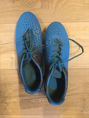 canterbury rugby Football Boots Blue Black Size 9.5 All Studs Lace Up