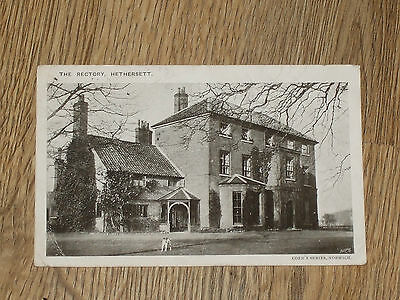 The Rectory  Hethersett  Norwich  Postcard  Posted  1910  Vintage   Vgc
