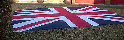 Very Large Homemade Union Jack Flag 5.15mtrs x 3.80mtrs