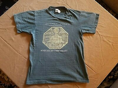1978 Quincy Jones Concert / Promo T Shirt S Sounds ....and Stuff Like That Rare!