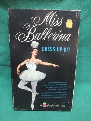 vtg Uncut Colorforms Toy Miss Ballerina Dress-up Kit