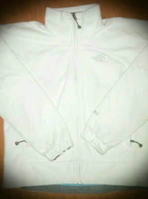 Men's Small The Northface White Jacket Sweater Full Zip Coat Good Condition