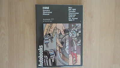 Autobook Workshop Manual Mini 850,1000,traveller Countryman Clubman1275 Gt 59-77