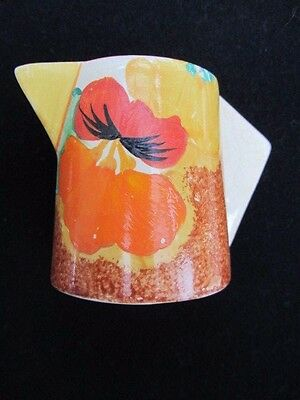 Clarice Cliff Art Deco conical bizarre Nasturtium Jug 1932