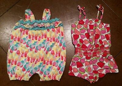 Set of 2 Infant Girls Rompers, 18 month
