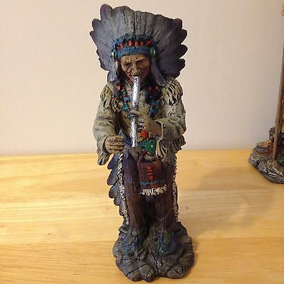 Collectable Native American/canadian Indian Figurine With Pipe