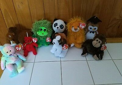 TY Beanie baby mixed lot - Frizzy, punkies, yodel, manny +