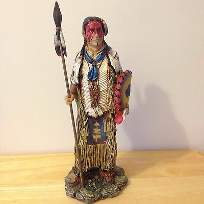 Collectable Native American/canadian Indian Warrior With Shield 30Cm