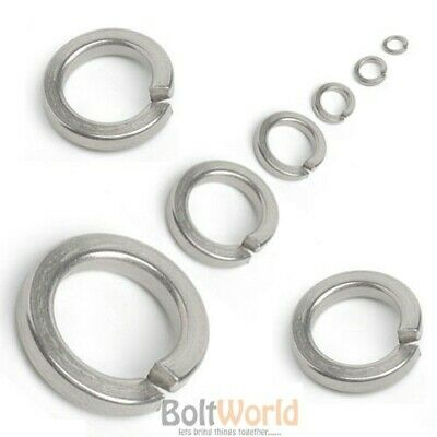 A2 Stainless Steel Imperial Spring Lock Washers Unc, Unf, Bsf, Bsw, Bscy