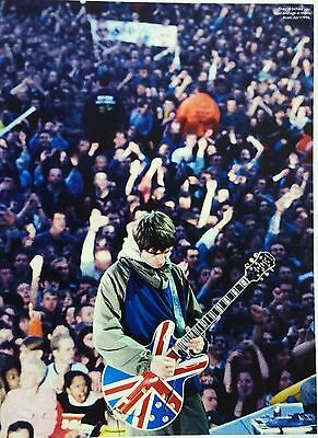 Noel Gallagher / Oasis - Full Page Magazine Picture Cutting - Maine Road 1996
