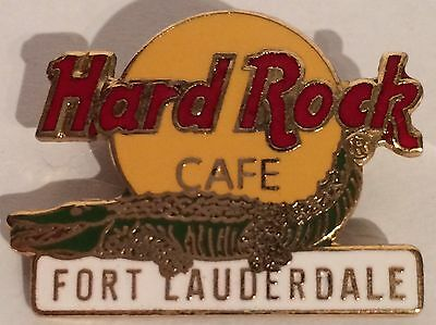 Hard Rock Cafe Fort Lauderdale - HRC Logo with Alligator Pin 1999