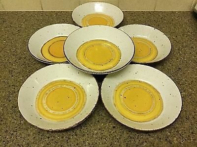 "Midwinter Stonehenge Sun 7.5"" cereal bowls x 6 - excellent"