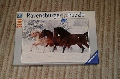 ravensburger galloping in the snow 500 puzzle jigsaw