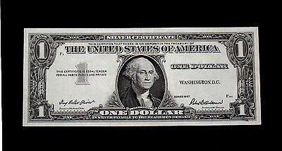 1957 $1 Silver certificate missing 3rd printing error
