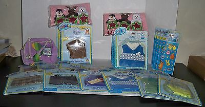 Huge Lot Webkinz Clothing, Kids Shirts, Pet Carrier, Stickers All New With Codes