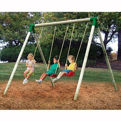 Little Tikes Oslo Triple Wooden Swing Set - Collection Only