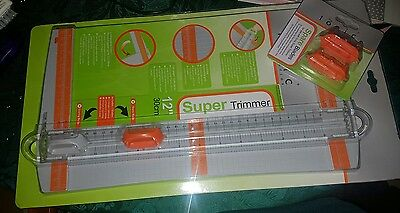 """Tonic Studios SUPER TRIMMER 153e 31CM 12""""  A4 plus pack of 2 replacement blades."""