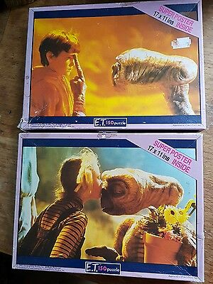 Pair of ET The Extra Terrestrial Jigsaws by Waddingtons 150pc released 1982
