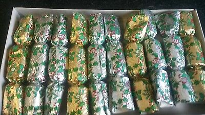 "Vintage Retro Christmas Crackers Set Of 10 6"" X 1"" Silver & Gold"
