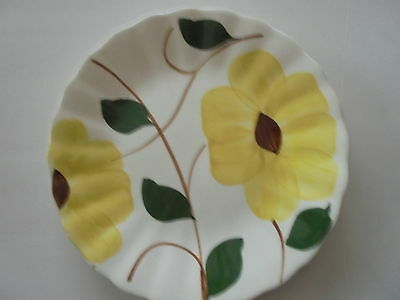 Blue Ridge pottery yellow nocturne pattern plate 6 1/4""
