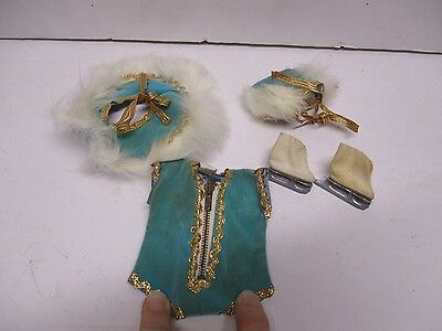 1955 Vogue Ginny #551 Skater Outfit Turquoise Velveteen NICE MUST SEE