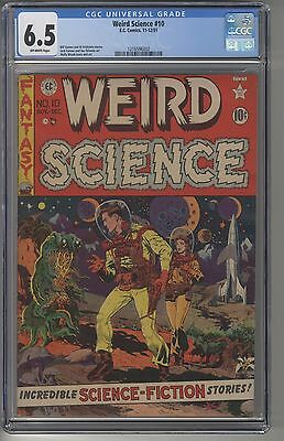 WEIRD SCIENCE #10 CGC 6.5 OW Pages EC Golden Age Pre-Code HORROR Wally Wood ART