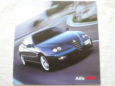 Alfa GTV UK Brochure Dated 2003 with  Technical Brochure Good Condition