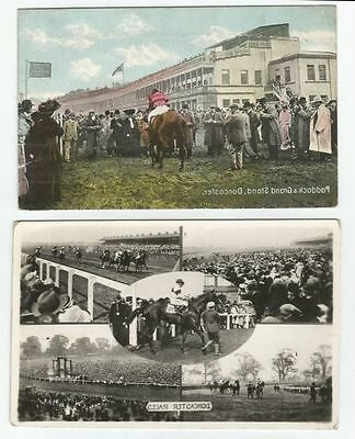 2 Doncaster- Racecourse Post Cards.
