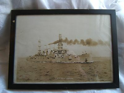 ww1 wwi us u.s. usn navy naval photo photograph uss north carolina antique old