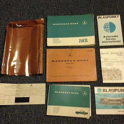 Mercedes Benz SL 250 Pagoda Original Service Booklet & Manuals With Data Card