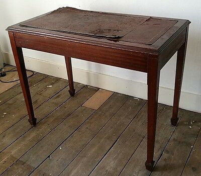 Antique Victorian Writing Table with Leather Top Restoration