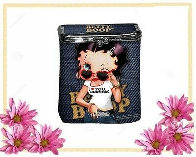 BETTY BOOP JEANS Cigarette Money Card Case Box Holder LIMITED EDITION