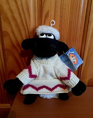 """Vintage 1980's """"SHAUN THE SHEEP"""" Plush Teddy WALLACE AND GROMIT with Tag"""
