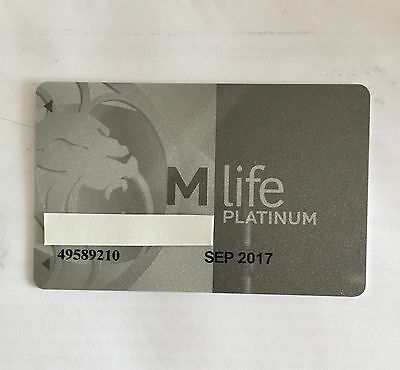 M Life Platinum Players Club Card RARE!  Skip The Lines In Vegas! (male name)