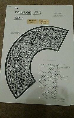 torchon fan pattern number 2 and pricking lace making