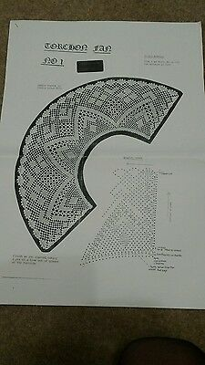torchon fan pattern number 1 and pricking lace making