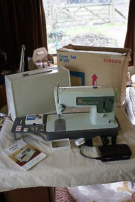 Vintage Singer 427 Sewing Machine with Pedal Instructions & Case