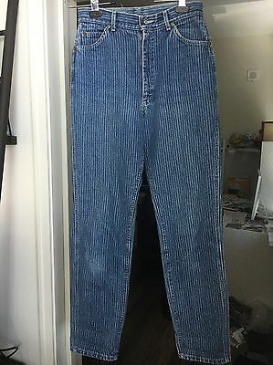 GUC Vintage Lee 100% Cotton Denim High Waisted Jeans SZ 13 Med Union-Made In USA